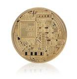 Bitcoin dourado imagem de stock royalty free