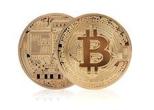 Bitcoin dourado fotos de stock royalty free