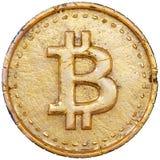 Bitcoin dourado Fotografia de Stock