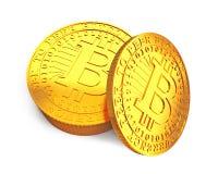 Bitcoin dourado, conceito do cryptocurrency, ilustração 3D Fotografia de Stock Royalty Free