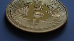 Bitcoin dourado gerencie 360 graus video estoque