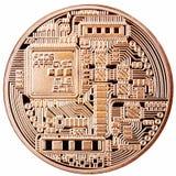 Bitcoin dourado isolado Fotos de Stock