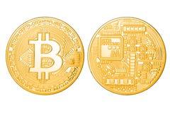 Bitcoin dourado isolou-se Imagem de Stock Royalty Free