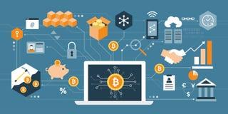 Bitcoin e cryptocurrency Immagini Stock Libere da Diritti