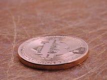 Bitcoin e goldwires fotografia stock libera da diritti