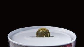 Bitcoin-Einsparungskasten Stockbilder