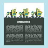 Bitcoin, el cryptocurrency Explotación minera de Bitcoin Ilustración del vector Libre Illustration