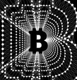 Bitcoin - electronic form of money and innovative payment network Royalty Free Stock Image