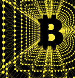 Bitcoin - electronic form of money and innovative payment network Stock Photo