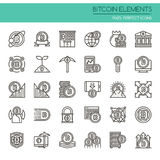 Bitcoin Elements Royalty Free Stock Photography