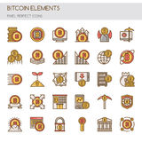 Bitcoin Elements Royalty Free Stock Images