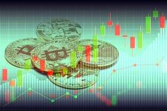 Bitcoin en blockchain digitale technologie royalty-vrije stock foto
