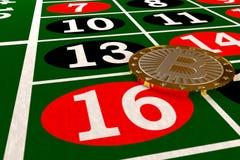 Bitcoin en la tabla de la ruleta libre illustration