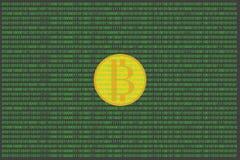 Bitcoin en mundo digital Foto de archivo