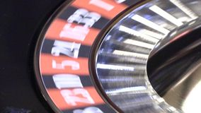 Bitcoin en ruleta del casino metrajes