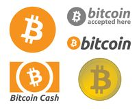 Bitcoin - en uppsättning av användbara illustrationer arkivbild
