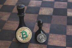 Bitcoin est plus fort que des dollars photos stock