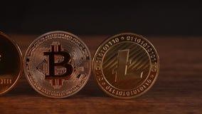 Bitcoin Ethereum Litecoin stock videobeelden