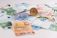 Bitcoin euro Royalty Free Stock Photography