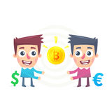 Bitcoin Exchange. This is file of EPS8 format Stock Photo