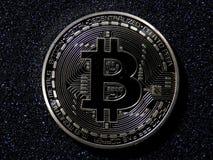 Bitcoin físico Imagens de Stock Royalty Free