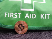 Bitcoin first aid kit Stock Photography