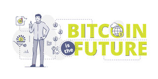Bitcoin is the future web banner Stock Photos