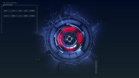 Bitcoin futurista HUD filme