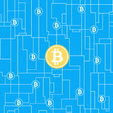 Bitcoin global business concept Royalty Free Stock Photography