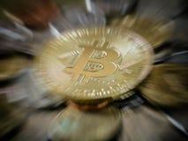 Bitcoin gold coin Royalty Free Stock Photography