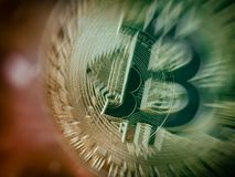 Bitcoin gold coin Royalty Free Stock Photo