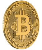 Bitcoin gold isolation white Royalty Free Stock Images