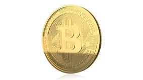Bitcoin Gold Metal Coin Royalty Free Stock Images