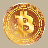 Bitcoin golden Lizenzfreie Stockbilder