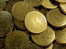 Bitcoin golden coins vector illustration