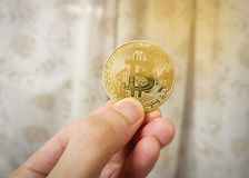 Bitcoin Gold digital currency Stock Images