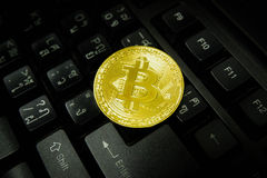 Bitcoin Gold digital currency Stock Photos