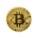 Bitcoin Goldenes Bitcoin lokalisiert auf weißem Hintergrund , befestigend Stockfotos