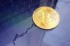 Bitcoin-Goldmünze Virtuelles cryptocurrency Konzept Lizenzfreie Stockfotografie