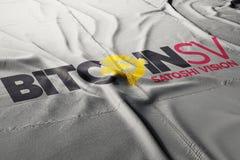Bitcoin gotówki satoshi wzroku cryptocurrency fotografia royalty free