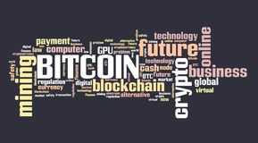Bitcoin graphics Stock Photo