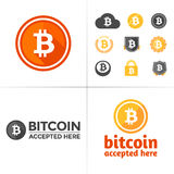 Bitcoin graphics Royalty Free Stock Image