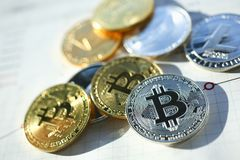 Bitcoin great design for any purposes. stock image