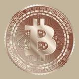 Bitcoin groszak Fotografia Royalty Free
