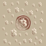 Bitcoin groszaka wzór Fotografia Stock
