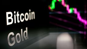 Bitcoin guld- Cryptocurrency tecken Uppf?randet av cryptocurrencyutbytena, begrepp Moderna finansiella teknologier stock illustrationer