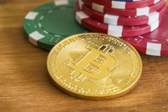 Bitcoin hazard zdjęcia stock