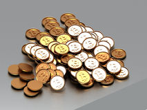Bitcoin heap Royalty Free Stock Images