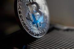 Bitcoin i heatsink Obraz Stock