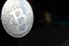 Bitcoin i heatsink Zdjęcia Stock